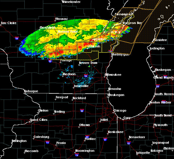 Radar Image for Severe Thunderstorms near Endeavor, WI at 7/21/2016 9:01 AM CDT