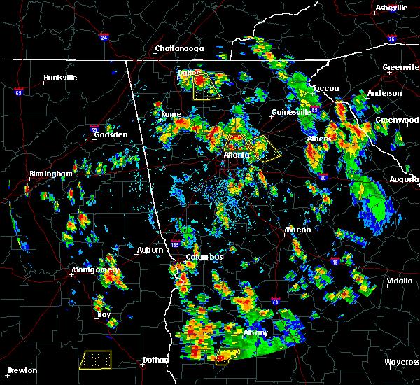 Radar Image for Severe Thunderstorms near Braswell, GA at 7/21/2016 4:42 PM EDT