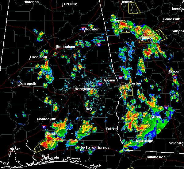 Radar Image for Severe Thunderstorms near Columbus, GA at 7/21/2016 4:48 PM EDT