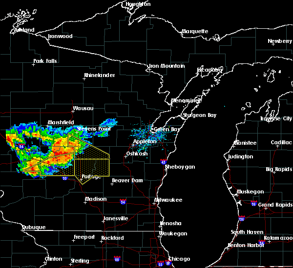 Radar Image for Severe Thunderstorms near Hancock, WI at 7/21/2016 4:19 PM CDT