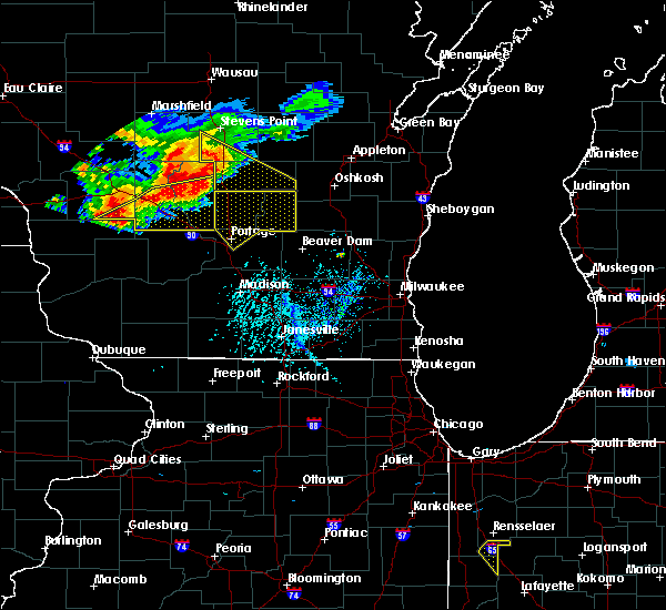 Radar Image for Severe Thunderstorms near Portage, WI at 7/21/2016 4:19 PM CDT