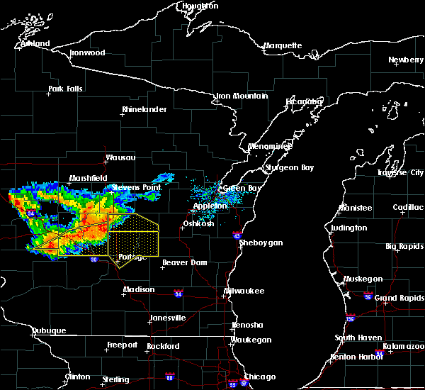 Radar Image for Severe Thunderstorms near Hancock, WI at 7/21/2016 4:28 PM CDT