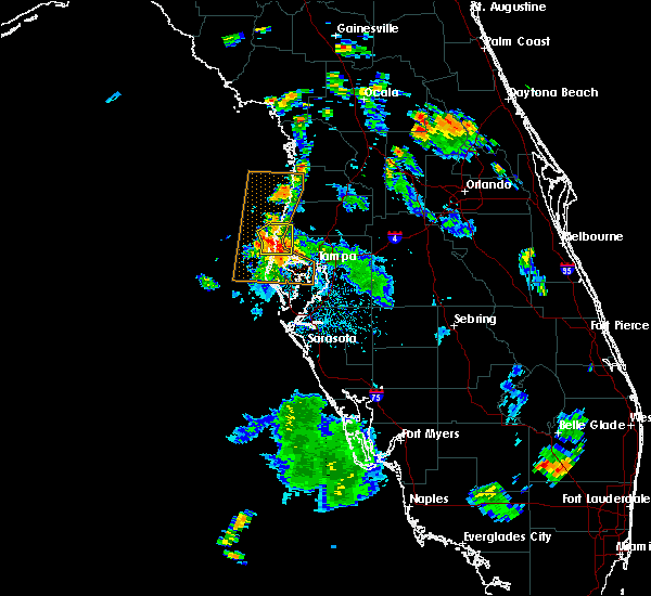Radar Image for Severe Thunderstorms near Clearwater, FL at 7/21/2016 5:35 PM EDT