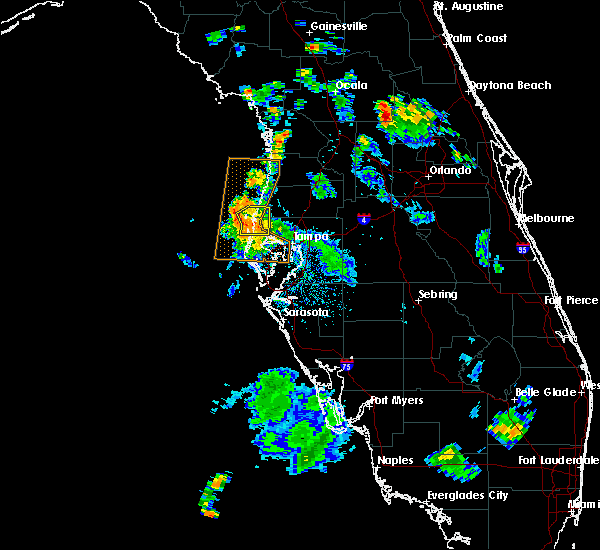 Radar Image for Severe Thunderstorms near Oldsmar, FL at 7/21/2016 5:44 PM EDT