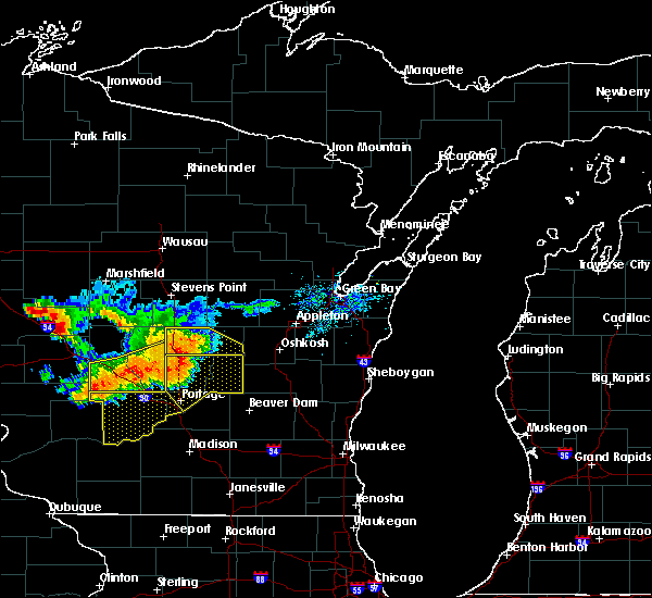 Radar Image for Severe Thunderstorms near Hancock, WI at 7/21/2016 4:44 PM CDT