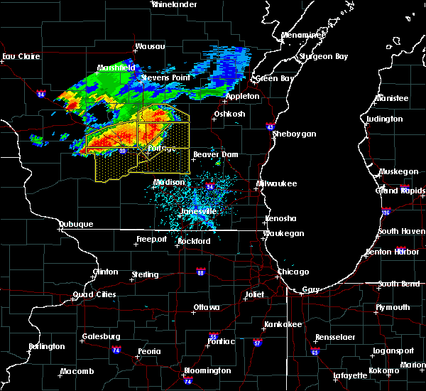 Radar Image for Severe Thunderstorms near Cambria, WI at 7/21/2016 4:53 PM CDT