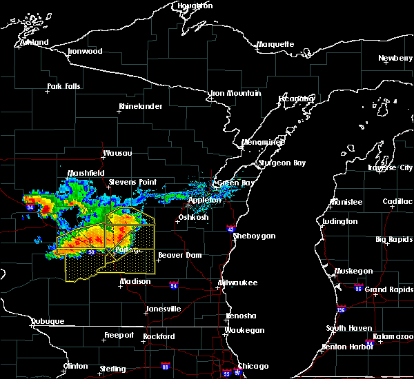 Radar Image for Severe Thunderstorms near Redgranite, WI at 7/21/2016 4:59 PM CDT