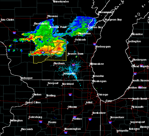 Radar Image for Severe Thunderstorms near Cambria, WI at 7/21/2016 5:18 PM CDT