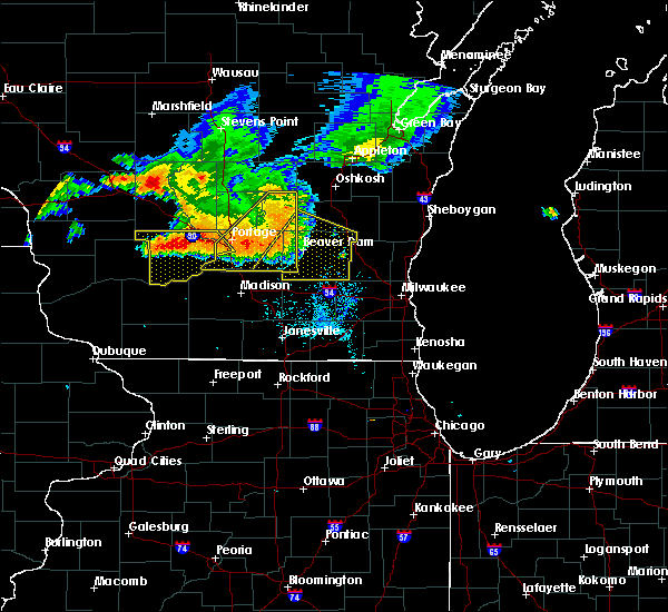 Radar Image for Severe Thunderstorms near Madison, WI at 7/21/2016 5:30 PM CDT