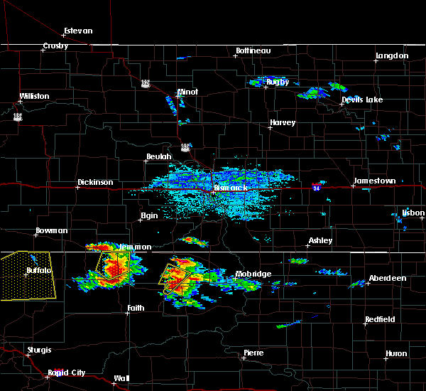 Radar Image for Severe Thunderstorms near Isabel, SD at 7/22/2016 4:23 PM MDT