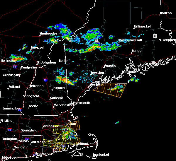 Radar Image for Severe Thunderstorms near Standish, ME at 7/22/2016 8:58 PM EDT