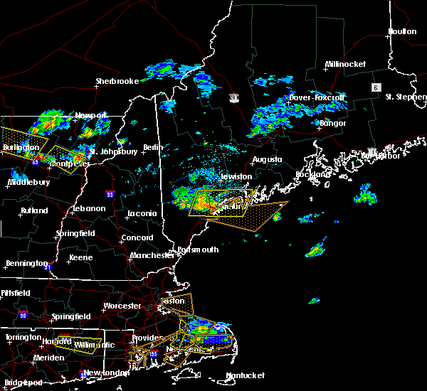 Radar Image for Severe Thunderstorms near Standish, ME at 7/22/2016 9:44 PM EDT