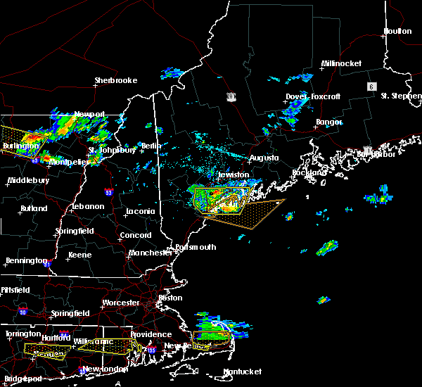Radar Image for Severe Thunderstorms near Bath, ME at 7/22/2016 10:10 PM EDT