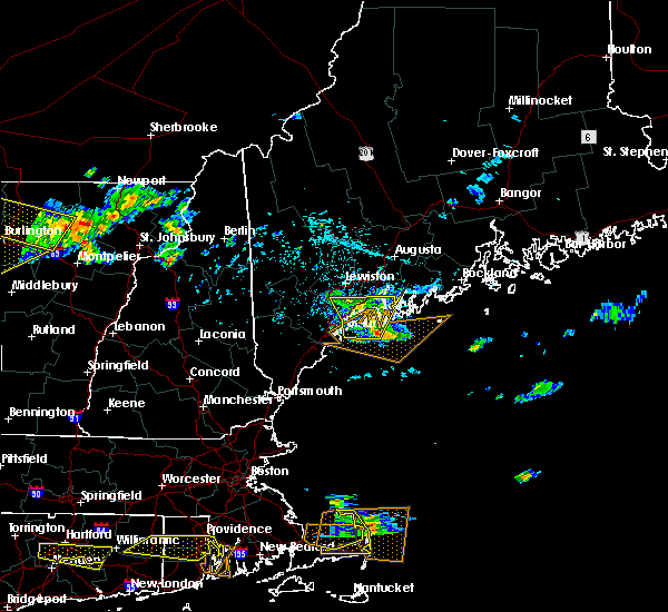 Radar Image for Severe Thunderstorms near Bath, ME at 7/22/2016 10:26 PM EDT