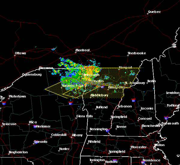 Radar Image for Severe Thunderstorms near Hinesburg, VT at 7/22/2016 11:01 PM EDT