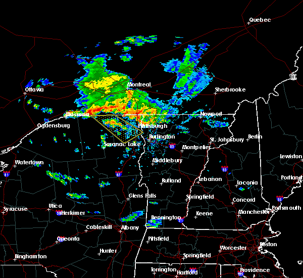 Radar Image for Severe Thunderstorms near Au Sable Forks, NY at 7/23/2016 2:41 PM EDT