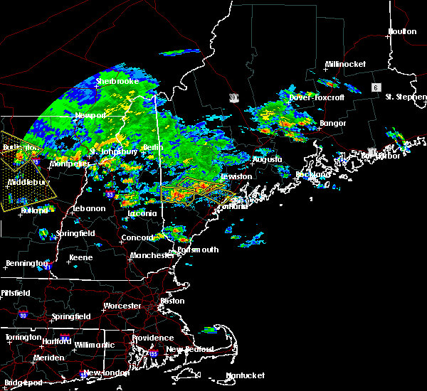 Radar Image for Severe Thunderstorms near Steep Falls, ME at 7/23/2016 3:46 PM EDT