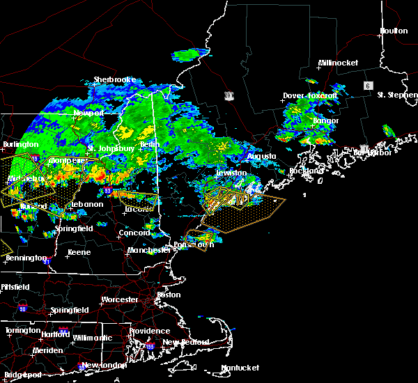 Radar Image for Severe Thunderstorms near Falmouth Foreside, ME at 7/23/2016 4:32 PM EDT
