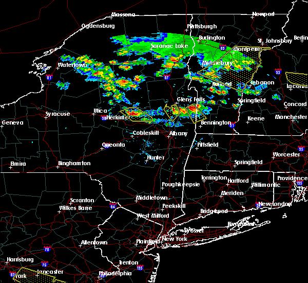 Radar Image for Severe Thunderstorms near Salem, NY at 7/23/2016 4:43 PM EDT