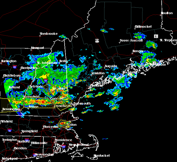 Radar Image for Severe Thunderstorms near Milton, NH at 7/23/2016 5:53 PM EDT