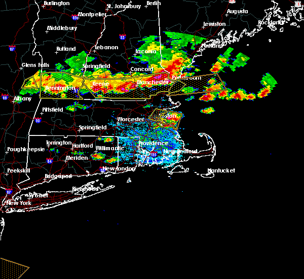 Radar Image for Severe Thunderstorms near Hudson, NH at 7/23/2016 6:34 PM EDT
