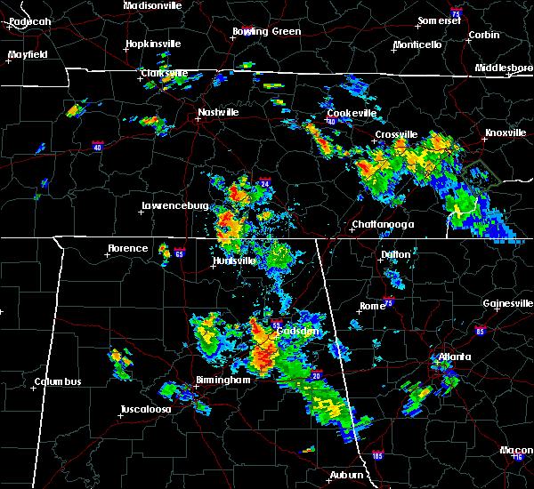 Radar Image for Severe Thunderstorms near Shelbyville, TN at 7/23/2016 5:43 PM CDT