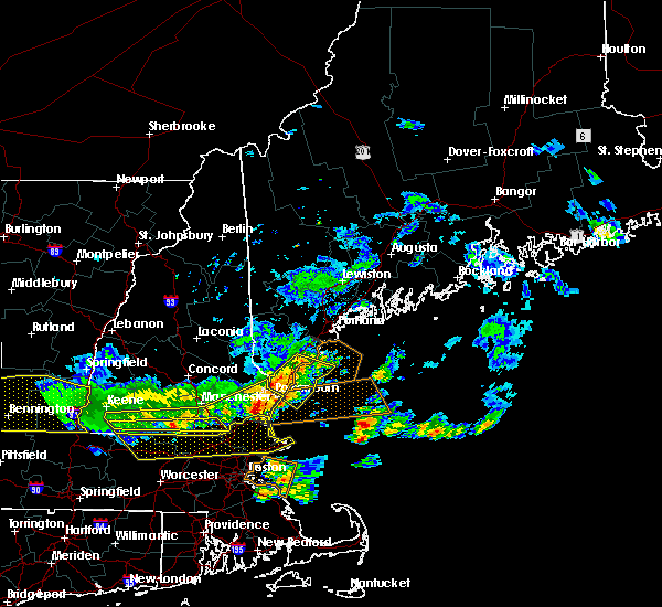 Radar Image for Severe Thunderstorms near South Eliot, ME at 7/23/2016 6:46 PM EDT