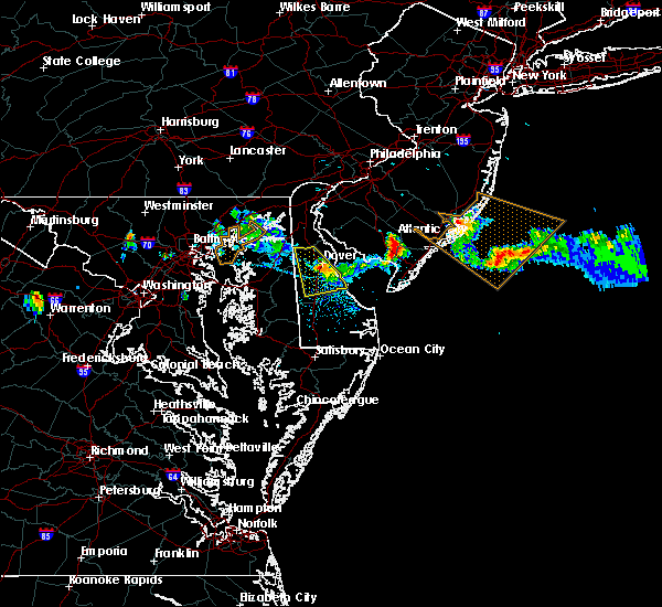 Radar Image for Severe Thunderstorms near Sea Isle City, NJ at 7/23/2016 7:21 PM EDT