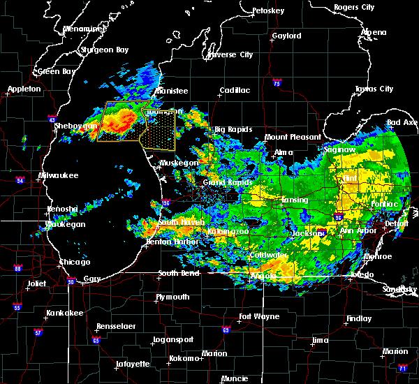 Radar Image for Severe Thunderstorms near Hesperia, MI at 7/24/2016 11:24 AM EDT