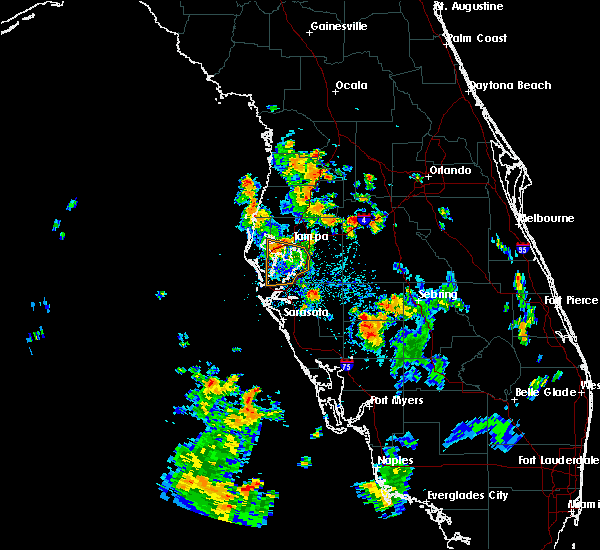 Radar Image for Severe Thunderstorms near Lakeland, FL at 7/24/2016 5:15 PM EDT