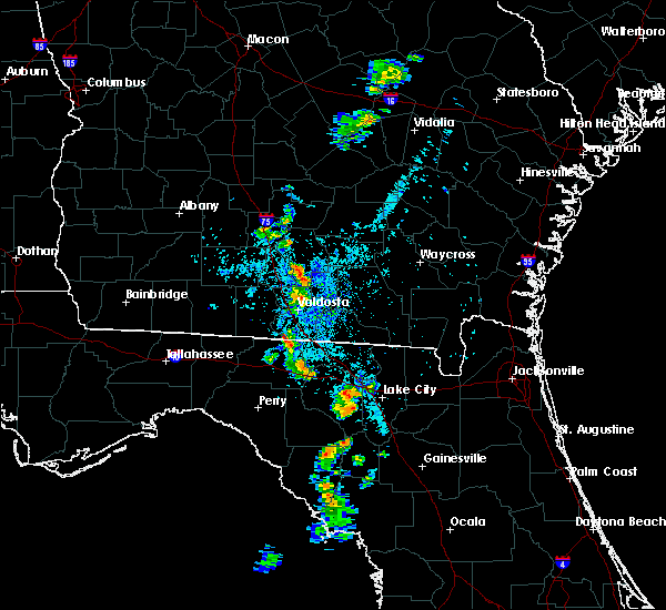 Radar Image for Severe Thunderstorms near Live Oak, FL at 7/24/2016 8:50 PM EDT