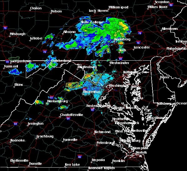Radar Image for Severe Thunderstorms near Shenandoah Farms, VA at 7/24/2016 9:05 PM EDT