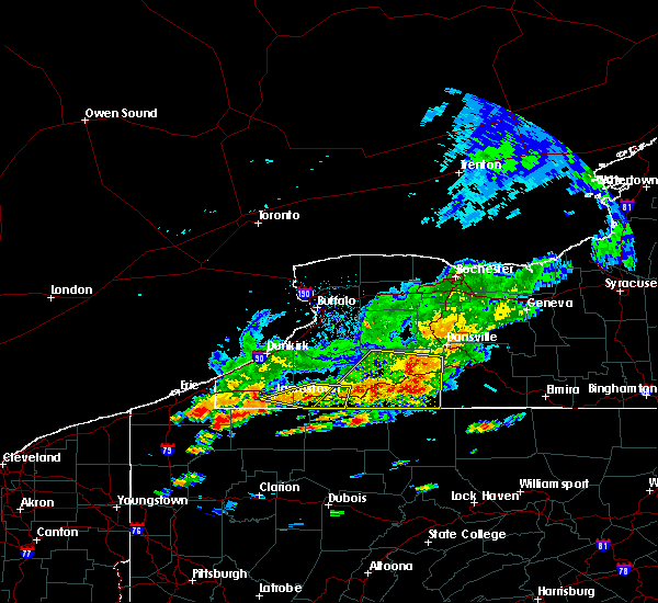Radar Image for Severe Thunderstorms near Belfast, NY at 7/25/2016 1:25 PM EDT