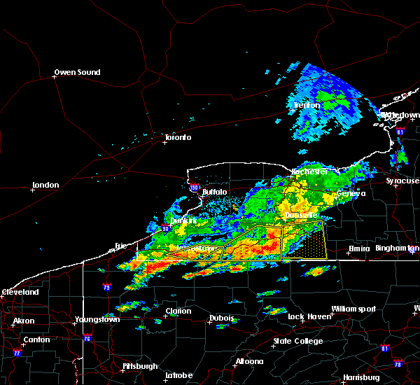 Radar Image for Severe Thunderstorms near Arkport, NY at 7/25/2016 1:34 PM EDT