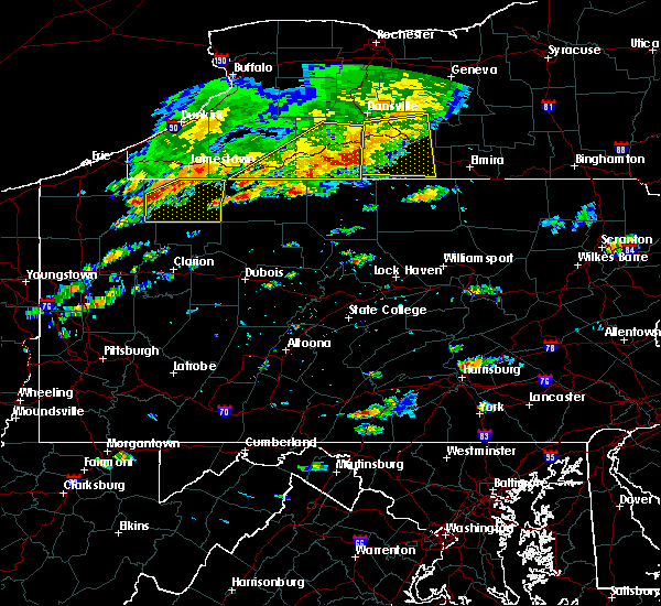 Radar Image for Severe Thunderstorms near Roulette, PA at 7/25/2016 1:41 PM EDT