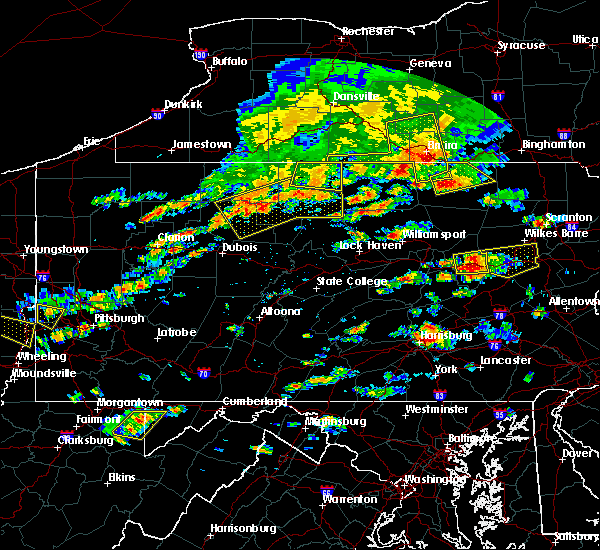 Radar Image for Severe Thunderstorms near Roulette, PA at 7/25/2016 2:47 PM EDT