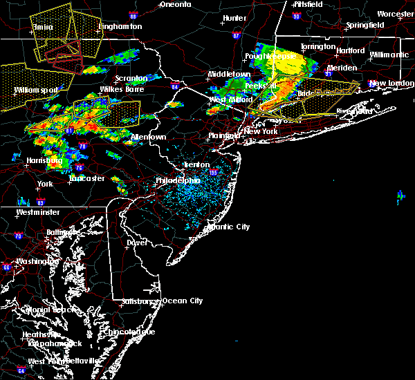 Radar Image for Severe Thunderstorms near Paterson, NJ at 7/25/2016 3:27 PM EDT