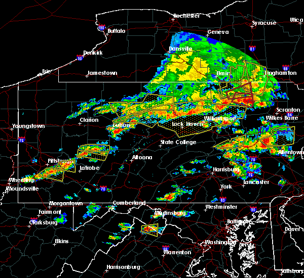 Radar Image for Severe Thunderstorms near Force, PA at 7/25/2016 3:37 PM EDT
