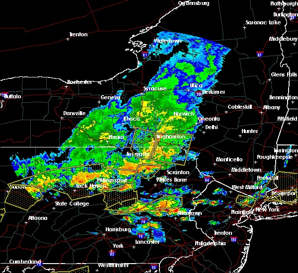 Radar Image for Severe Thunderstorms near Oakland, PA at 7/25/2016 3:57 PM EDT