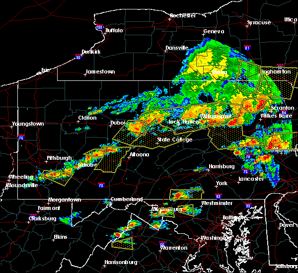 Radar Image for Severe Thunderstorms near Howard, PA at 7/25/2016 4:03 PM EDT