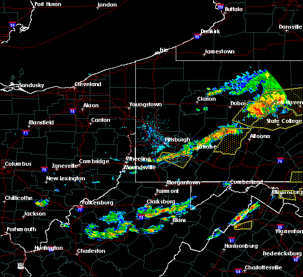 Radar Image for Severe Thunderstorms near Youngstown, PA at 7/25/2016 4:05 PM EDT