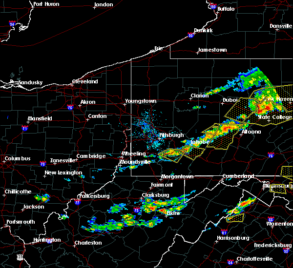 Radar Image for Severe Thunderstorms near Youngstown, PA at 7/25/2016 4:15 PM EDT