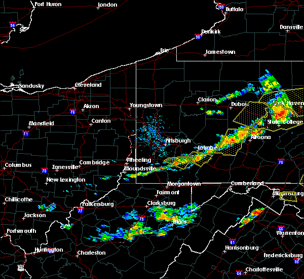 Radar Image for Severe Thunderstorms near Youngstown, PA at 7/25/2016 4:25 PM EDT