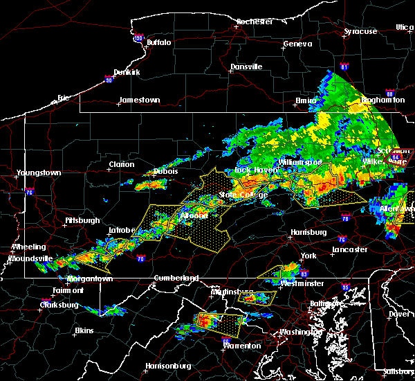 Radar Image for Severe Thunderstorms near Linntown, PA at 7/25/2016 4:51 PM EDT