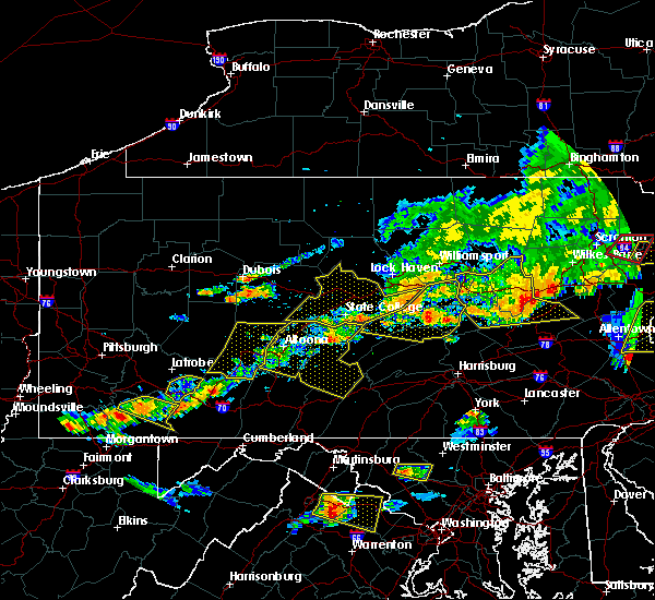 Radar Image for Severe Thunderstorms near State College, PA at 7/25/2016 5:03 PM EDT