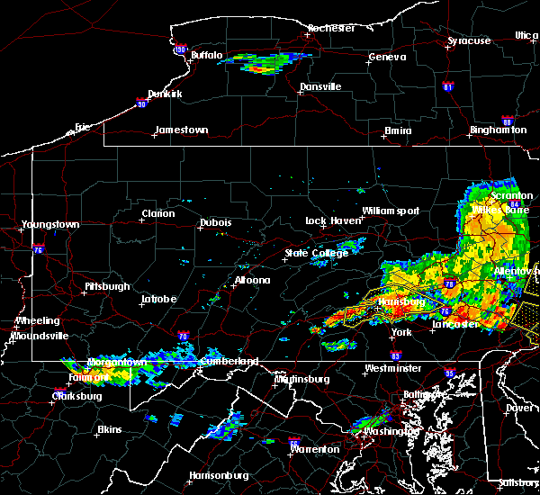 Radar Image for Severe Thunderstorms near New Cumberland, PA at 7/25/2016 6:46 PM EDT