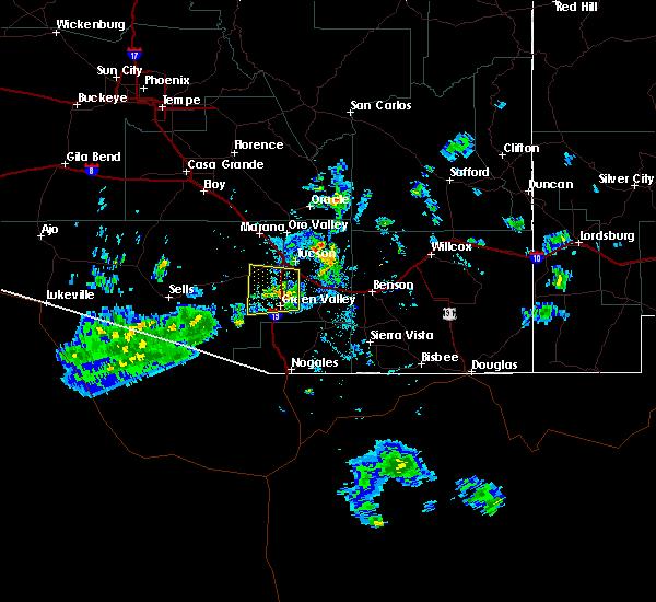 Radar Image for Severe Thunderstorms near Green Valley, AZ at 7/26/2016 8:01 PM MST