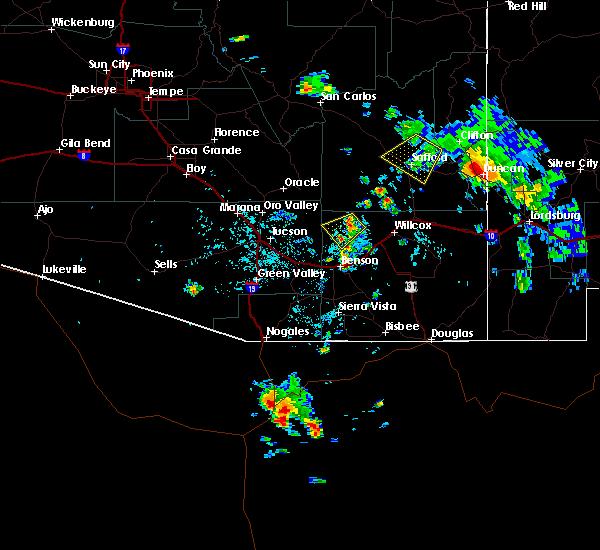 Radar Image for Severe Thunderstorms near Duncan, AZ at 7/27/2016 3:04 PM MST
