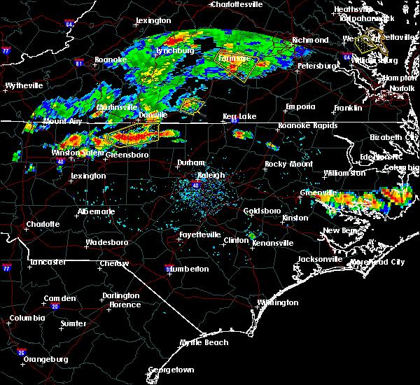 Radar Image for Severe Thunderstorms near South Boston, VA at 7/27/2016 6:14 PM EDT