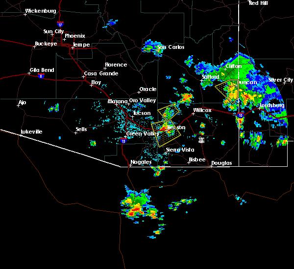 Radar Image for Severe Thunderstorms near Duncan, AZ at 7/27/2016 3:29 PM MST